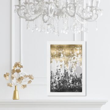 Oliver Gal 'Had a Moment' Abstract Wall Art Framed Print Paint - Gold, Black