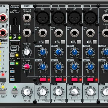 PMP500MP3 Ultra-Compact 500-Watt 8-Channel Powered Mixer with MP3 Player