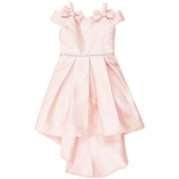 Speechless Little Girls Bow-Trim High-Low Dress