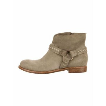 Suede Moto Boots Grey