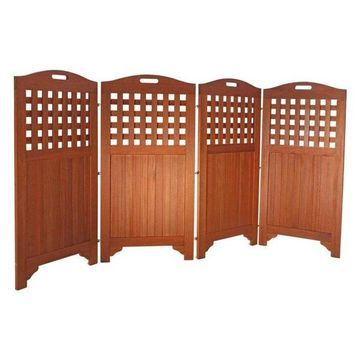 Vifah V163 48 Outdoor Acacia Privacy Screen With 4 Panels