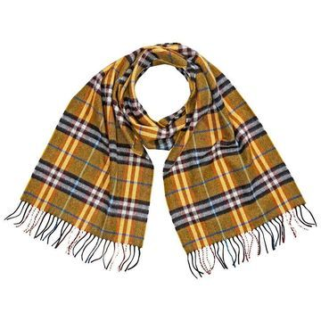 Burberry Castleford Check Cashmere Scarf- Yellow