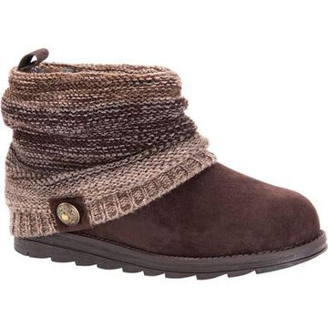 MUK LUKS Women's Patti Boot Brown Acrylic/Polyester/Synthetic