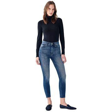 DL1961 Farrow Skinny High-Rise Instasculpt Crop in Kasson (Kasson) Women's Jeans