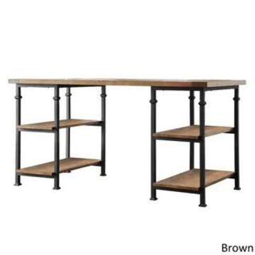Myra Vintage Industrial Storage Desk by iNSPIRE Q Classic (Brown)