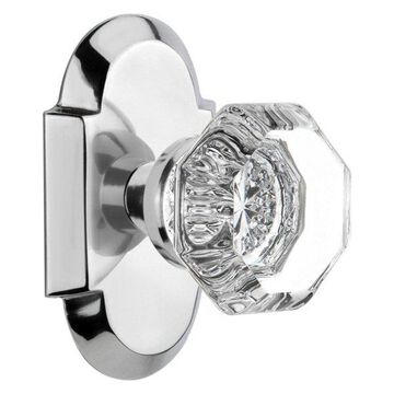 Cottage Plate With Waldorf Knob, Bright Chrome