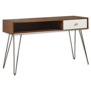 INK+IVY Mia Console Table in Brown/White