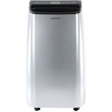 Amana 12,000 BTU Portable Air Conditioner with Remote Control in Silver/Gray