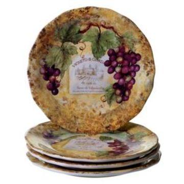 Certified International Gilded Wine 4-Pc. Dinner Plate