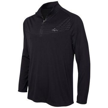 Greg Norman Mens Embossed 1/4 Zip Pullover Sweater