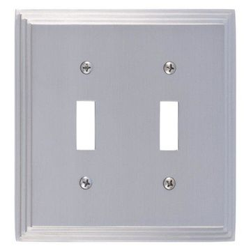 Classic Steps Double Switch, Satin Nickel