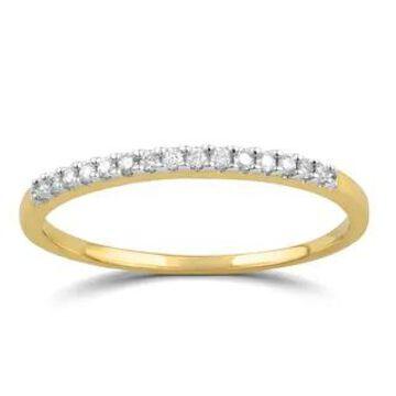 Divina 10k Gold 1/10ct TDW Diamond Wedding Band