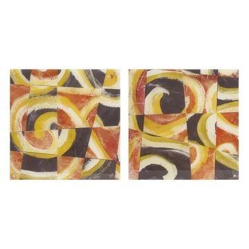 Imax Multicolor Fire & Slate Acrylic Floating Wall Art, Assorted 2