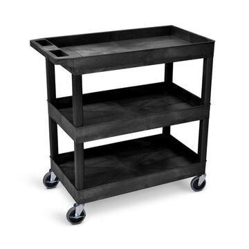 Luxor 36.25-in Shelf Utility Cart in Black