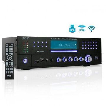 PYLE PD1000BA - Bluetooth Home Theater Preamplifier - Audio/Video Receiver System with CD/DVD Player, AM/FM Radio, MP3/USB Reader (1000 Watt)