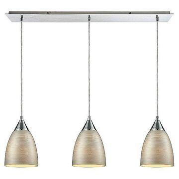 ELK Lighting Merida Linear Chandelier - Color: Silver - 56530/3LP