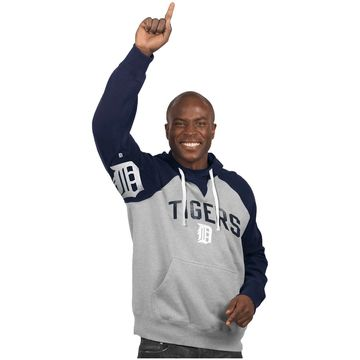 Detroit Tigers Hands High Pullover Hoodie - Gray
