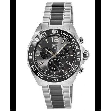 Tag Heuer Formula 1 Quartz Chronograph Grey Dial Ceramic & Steel Men's Watch CAZ1011.BA0843 CAZ1011.BA0843