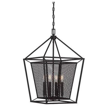 Vernon 4-Light Foyer Light, English Bronze