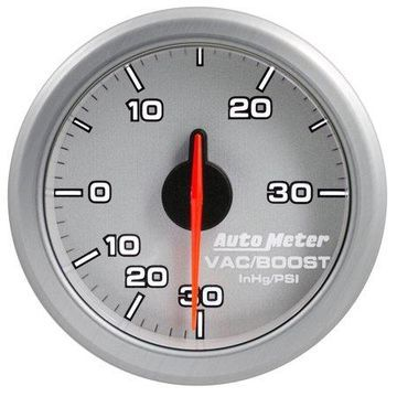 AutoMeter 9159-UL AirDrive Boost Gauge; 2-1/16 in.; Silver Dial Face; User Selectable LED; Electric Air-Core; 30 IN HG/30 PSI; Works w/Most OBDII Vehicles;