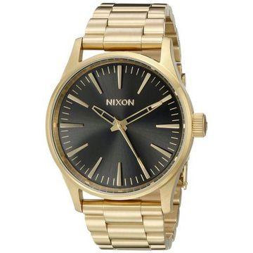 Nixon Mens A4501604 Sentry 38 SS Analog Display Analog Quartz Gold Watch