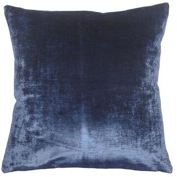 Jasper Solid Floor Pillow Blue