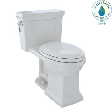 TOTO Promenade II Colonial White Elongated Chair HeightWaterSense Toilet 12-in Rough-In Size (Ada Compliant)   MS814224CUFG-11