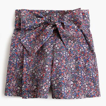 Tie-waist short in Liberty& Tana Lawn print