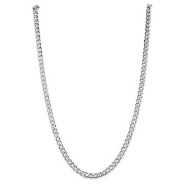 Sterling Silver 6mm Solid Polished Curb Chain - White by Versil (18 Inch)