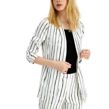 Alfani Striped Open-Front Blazer, Created for Macy's