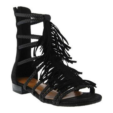 Azura Women's Dashuri Gladiator Sandal Black Synthetic