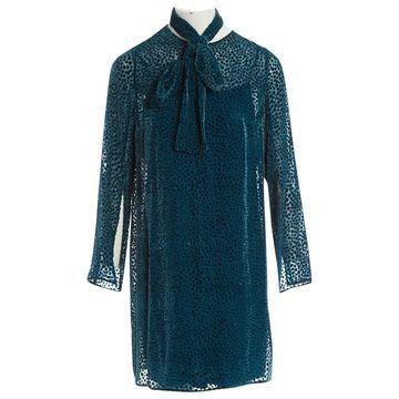 Akris Blue Velvet Dresses