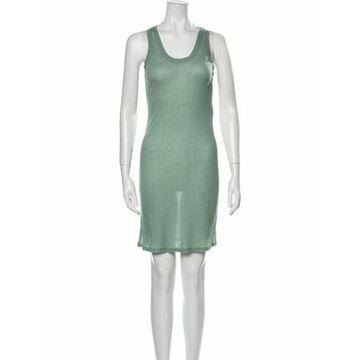 Alysi Scoop Neck Mini Dress Green Alysi Scoop Neck Mini Dress