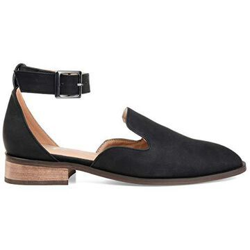 Brinley Co. Womens Square Toe Ankle Strap Flat