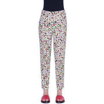 Maiko Pixel-Print Ankle Pants