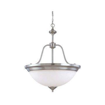 Nuvo Lighting Glenwood ES 4 Light Large Pendant with White Glass