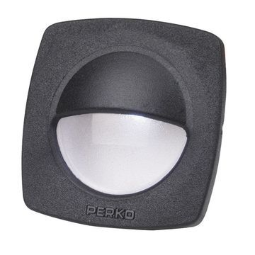 Perko LED Utility Light w/Snap-On Front Cover - Black