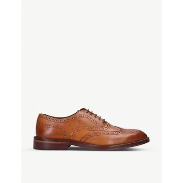 Sky perforated leather brogues