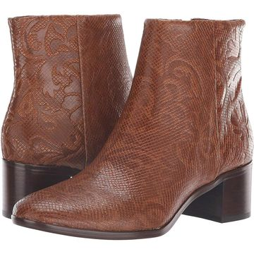 Patricia Nash Womens Marcella Almond Toe Ankle Cowboy Boots