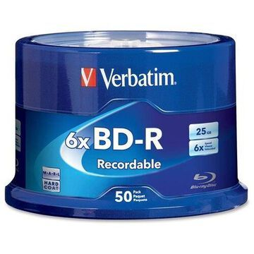 Verbatim BD-R 25GB 6X with Branded Surface - 50pk Spindle - 120mm