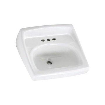 American Standard Lucerne Wall Mounted Porcelain Bathroom Sink, White,