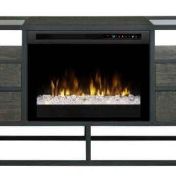 Dimplex Ivan Media Console Fireplace with Glass Ember Bed