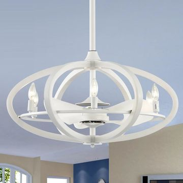 Torge Matte White 29-Inch 3-Blade Lighted Ceiling Fan (Includes Remote)