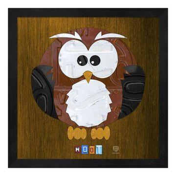 Metaverse Art Hoot the Owl Framed Wall Art