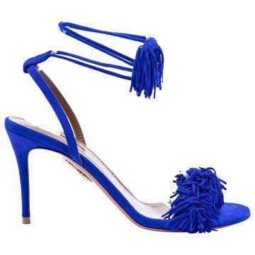 Aquazzura Blue Suede Heels