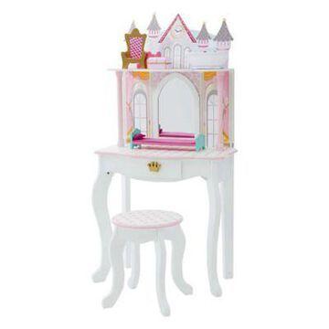Teamson Kids Dreamland Castle Toy Vanity Set in White/Pink