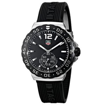 Tag Heuer Men's WAU1110.FT6024 'Formula 1' Black Dial Black Rubber Strap Quartz Watch
