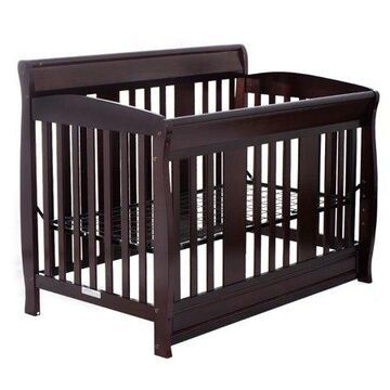 Goplus Pine Wood Baby Children Toddler Nursery Bed Convertible Crib Coffee