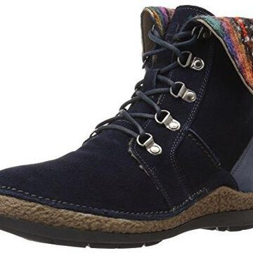 Propet Women's Dayna Ankle Bootie, Navy, 6 2E US