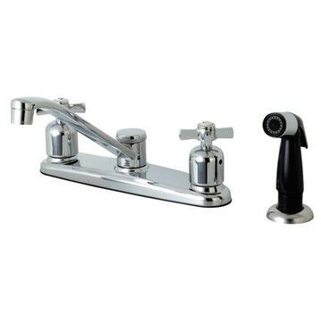 Kingston Brass FB112ZX Centerset Kitchen Faucet, Polished Chrome